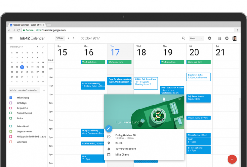 Google Calendar gets a Makeover