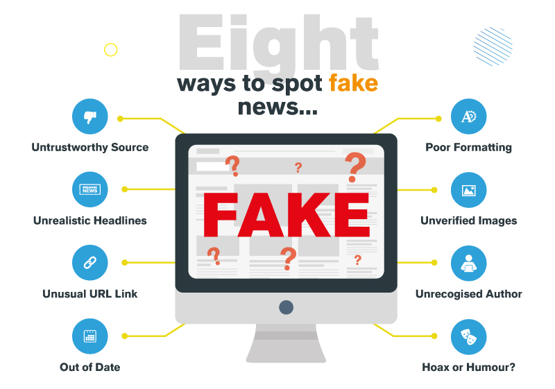 8 Ways to Spot Fake News Infographic
